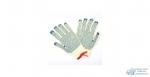 Перчатки х/б, трикотаж. ПВХ точечное., Плотная вязка (Желтые)