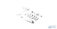 Заряд. для мобил. устр-в CarFort 12-24v, 5V, USB, с набором адапт (Lightning, type C, micro) БЕЛОЕ
