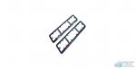 Номера рамка пластм. с КАТАФОТОМ (к-т 2шт), ЧЕРНАЯ (1/35)