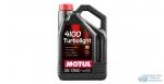 Масло моторное MOTUL 4100 Turbolight 10W40 SL/CF полусинтетическое, универсальное 4л