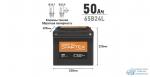Аккумулятор Startex 65B24L, 50Ач, CCA 470А, необслуживаемый