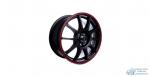 Автодиск R16 TGR001 16*6.5J/5-100/60.1/+45 MATT BLACK RED RING
