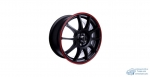 Автодиск R16 TGR001 16*6.5J/5-100/60.1/+45 MATT BLACK RED RING