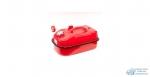 Канистра стальная горизонтальная AUTOPROFI 10л,оцинкованная, перепускной клапан, лейка