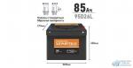 Аккумулятор Startex 95D26L, 85Ач, CCA 680А, необслуживаемый