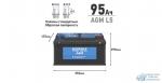 Аккумулятор Nordix L5 AGM, 95Ач, CCA 850А, необслуживаемый