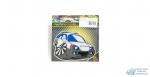 Наклейка Машинка с колесом NKT 0317 светоотражающая, размер 13*7,5 см
