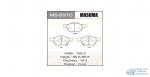 Колодки дисковые MASUMA ACCORD/ 2000, 2200, 2400 front