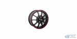Автодиск R16 TGR001 16*6.5J/5-100/67.1/+38 MATT BLACK RED RING