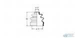 Пыльник привода OHNO FB-2004//MF-2004