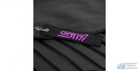Брелок тканевый с вышивкой «STI» черный