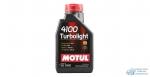 Масло моторное MOTUL 4100 Turbolight 10W40 SL/CF полусинтетическое, универсальное 1л