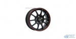 Автодиск R15 TGR001 15*6J/5-114.3/67.1/+38 MATT BLK RED RING