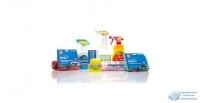 Очиститель автомобильный KOLIBRIYA универсальный, комплект (полироль, очиститель стекол, очиститель интерьера, салфетка из микрофибры, салфетка влаговпитывающая, губка), набор, 1000мл