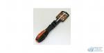 Отвертка АвтоДело минус, L100х5мм, Cr-Mo, Прорезиненная ручка