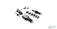 Заряд. для мобил. устр-в CarFort 12-24v, 5V, USB, с набором адапт (Lightning, type C, micro) ЧЕРНОЕ