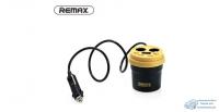 Развет.гнезда прик. Remax CR-2XP +USB, в подстаканник, с индикат. напряжения.